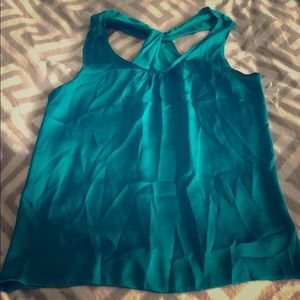 Guess Turquoise Green Dressy Tank Top